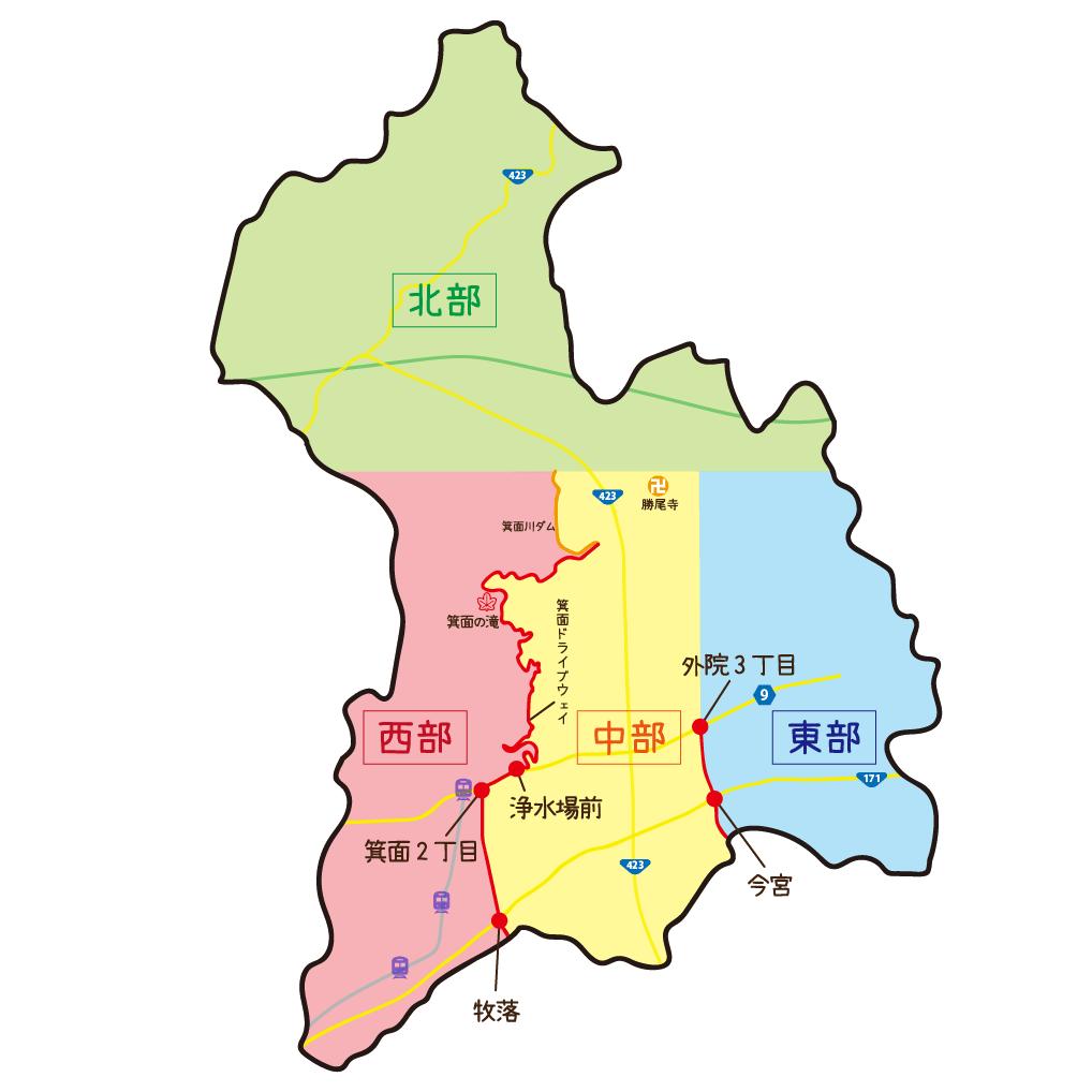 エリア区分マップ